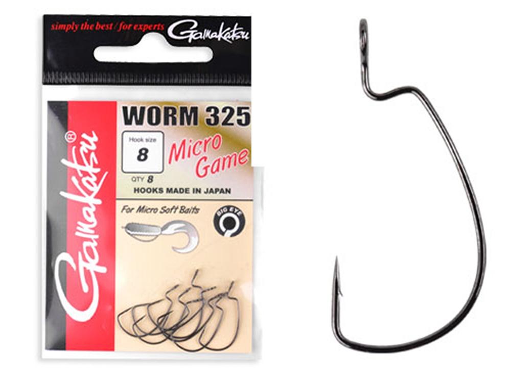 GAMAKATSU Worm 330 Bottom Jigging Hooks//Hooks for Cheburashka Weights
