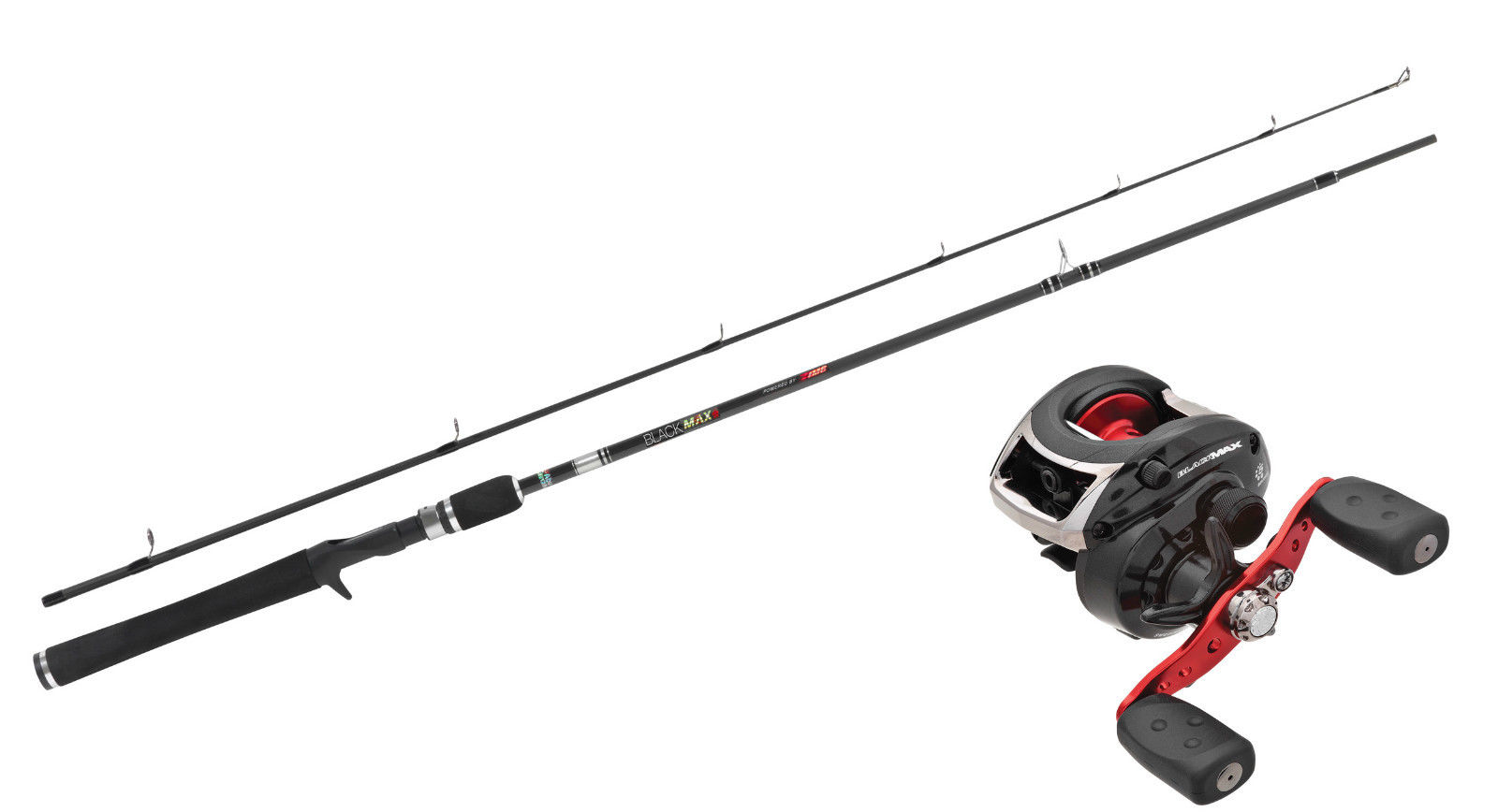 Abu garcia black max combo baitcast reel rod 1 97m 10 for Left handed fishing pole