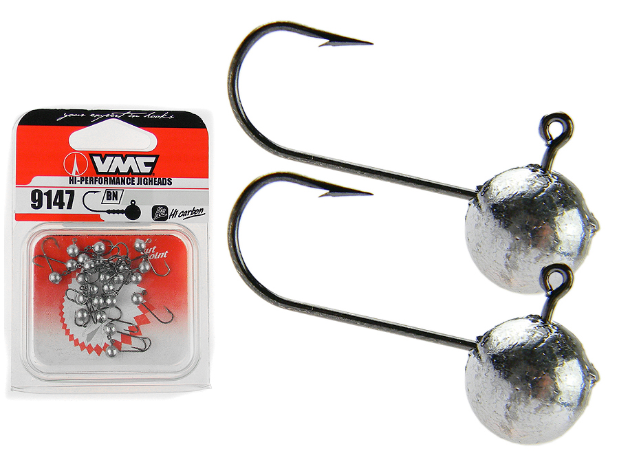 25x vmc 9147 bn micro t tes plomb es jig heads hooks for Micro fishing hooks
