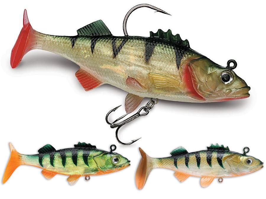 "4/"" /& 5.5/"" Fishing Swimbait Lure Life-like Perch Rainbow Crappie Bluegill Striper"