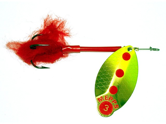 #2 16g Gold Silver Lure Spinnerbait Pike Mepps Lusox Fluo Size