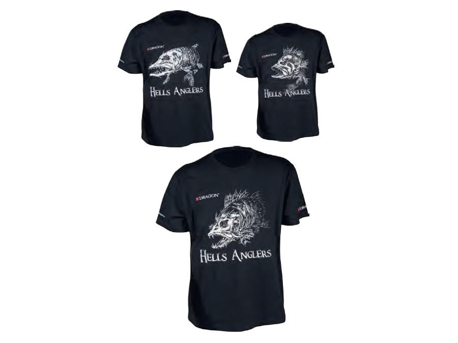 size High class cotton M-XXXL Black Dragon T-shirt Hells Anglers Zander