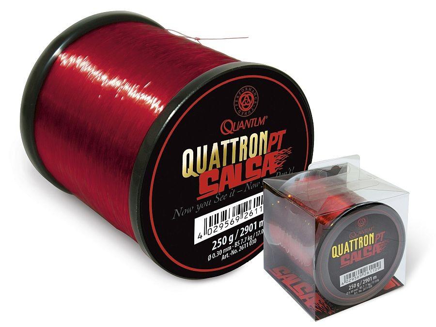 rote Monofile-Angelschnur 2131m-3000m QUANTUM Quattron Salsa 0,25mm-0,35mm