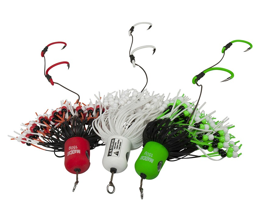 D.A.M Madcat A-Static Clonk Teasers 200g with beads Spinner für Wels FARBEN